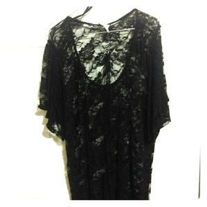 Black Rose Lace Shirt